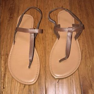 T- Strap Flats